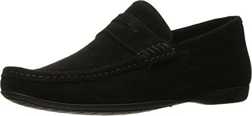 Bruno Magli Men's Partie Suede Loafer, Black Suede, 8 M - Footwear Bruno