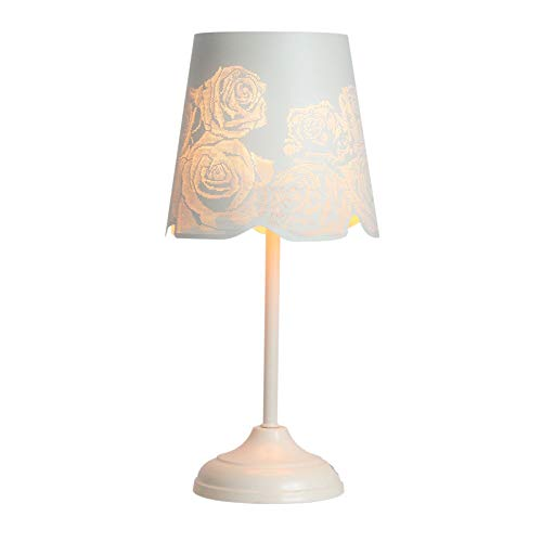 "Kanstar 15"" Table Lamp Desk Lamp Bed Lights With Rose Lamp Shade (1)"