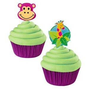- Wilton Cupcake Picks - Jungle Pals - Monkey/Giraffe
