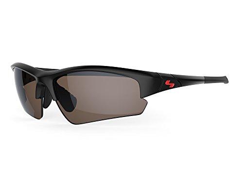 Sundog TB Clutch Sunglasses, Rubber Black Frame/Brown FM - Fm Sunglasses
