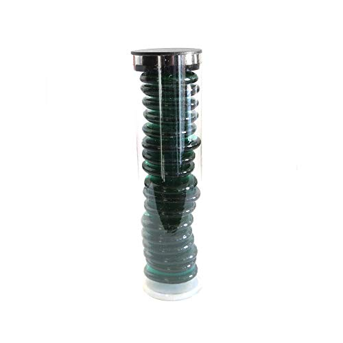 18 Extra-Large Glass Gems in Tube, 1.25 Inches in Diameter, Emerald Green