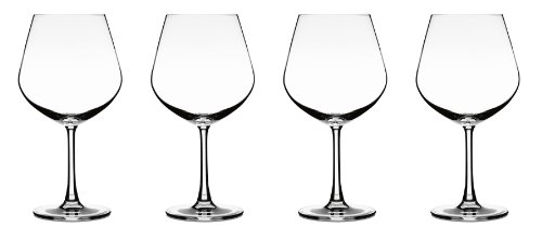 Cuisinart CGE-01-S4BU Elite Vivere Collection Burgundy Glasses, Set of 4