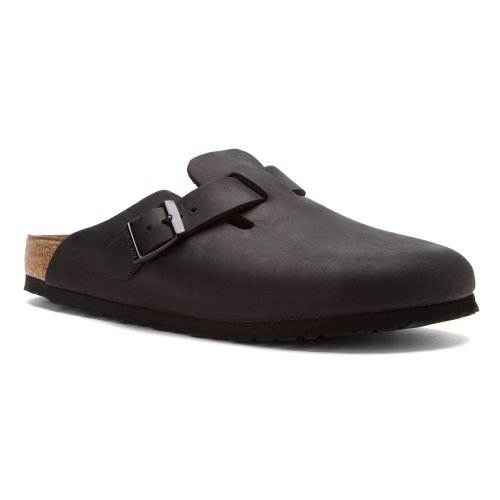Birkenstock Boston Classic  Arch Clog,Black Oiled Leather...