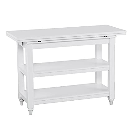 amazon com convertible console to dining table in white made of rh amazon com small convertible kitchen table