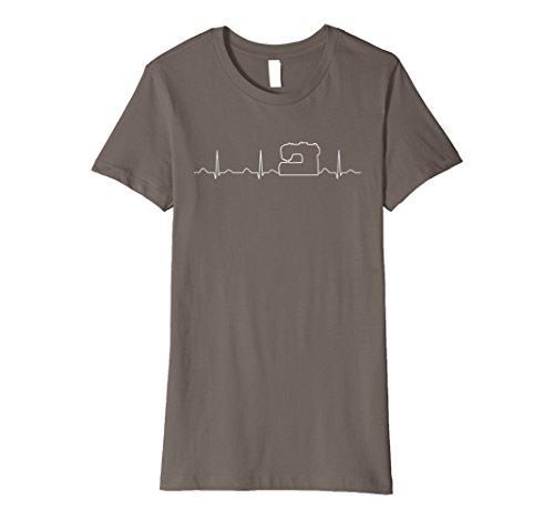 - Womens Sewing Heartbeat Shirt, Funny Cute Sewing Sew Gift Medium Asphalt