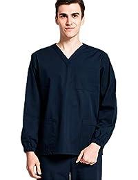 41fdf13badf Medical Scurb Sets V-Neck Long Sleeve Men and Women Comfortable Work Uniform