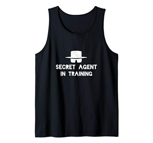 Secret Agent Training Halloween Costume Spy Adults Toddlers  Tank Top