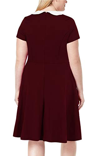 Nemidor Women\'s Peter Pan Collar Fit and Flare Plus Size Skater ...