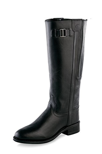 LB1602 Black Zip Old Roper Fashion Tall Womens M Leather 6 Boots West wPPqX6v
