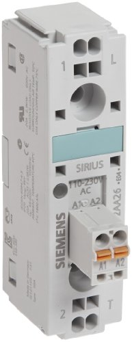 Siemens 3RW30 47-1BB14 Soft Starter, Screw Terminals, S3 Size, 200-480V Rated Operational Voltage, 110-230V Control Supply Voltage, 106A Rated Operational Current at 40 Degrees Celsius