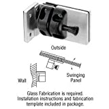 CRL Brushed Stainless Wall/Square Post Mount Gate Latch