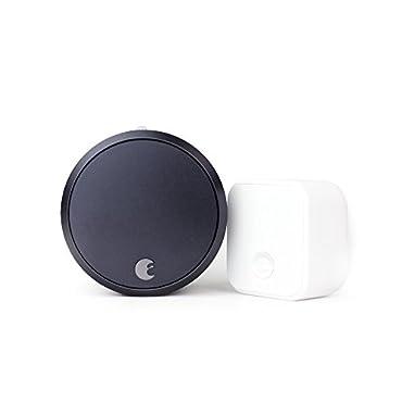 August Smart Lock Pro + Connect, 3rd gen technology Dark Gray, works with Alexa