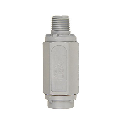 1/4inch FNPT x 1/4inch MNPT Series 426 PVC Check Valves with Buna-N Seals