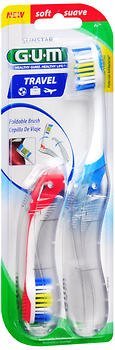 GUM Travel Toothbrush Soft - 2 each, Pack of 5