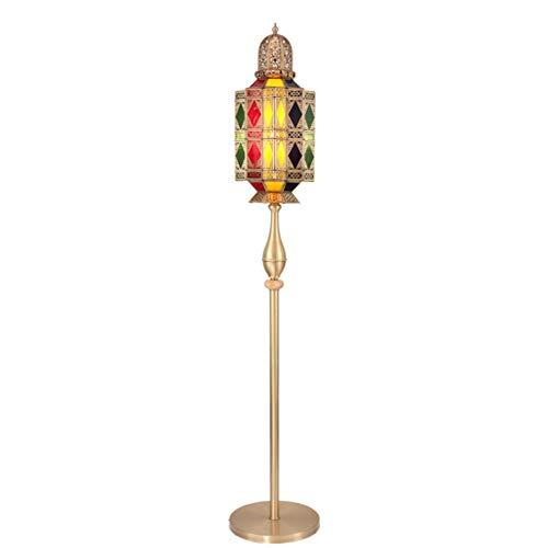 Rtro Salon tude Lampadaire Chaud Chambre Lampe De Chevet Cuivre Creux Sculpt Lampadaire