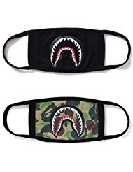 Xshelley 2-pack Shark Face Mask,cotton mask funny Anti-dust Face mask,Ski Cycling Camping Half Face Mouth Masks for Boys and Girls -