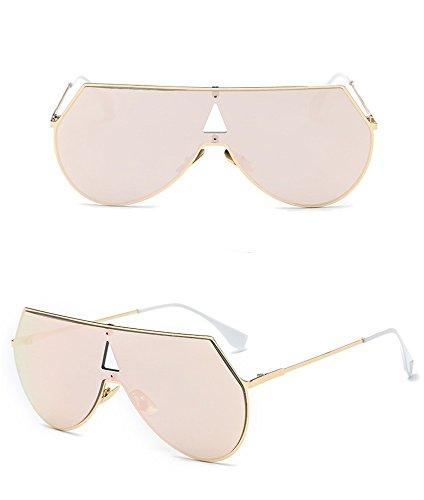 Manera Golden del Corea Hielo los Película de la de Sol Siamés de Marco Caja Hombres de Gafas Gafas Metal Color Azul Gafas de de Sol Box de sol Plata Powder Barbie de RFVBNM 7qCvIy