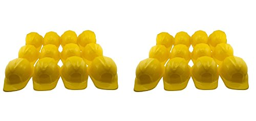 Ifavor123 Kids Birthday Party Dress Up Yellow Soft Plastic Construction Novelty Hats (24) ()