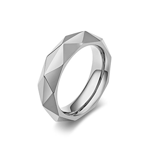 Pittsburgh President Series (LALOPEZ Men's Fashion Titanium Ring Rhombic Cut Face Couple Engagement Gift Jewelry Rings Band)