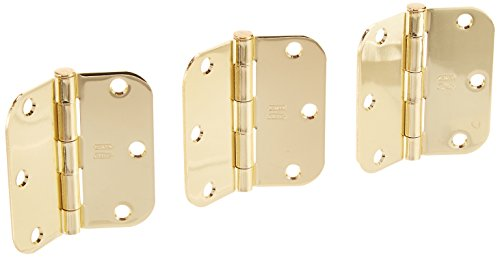 Polished Brass Door Hinge - NATIONAL MFG/SPECTRUM BRANDS HHI N830-322 Door Hinge, 3.5-Inch, Polished Brass, 3-Pack