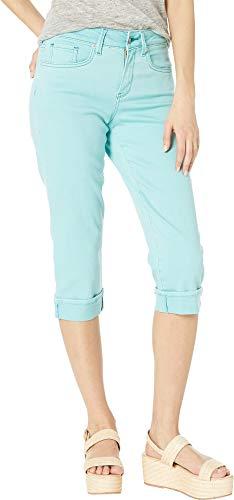 - NYDJ Petite Women's Petite Marilyn Crop Cuff in Blue Daisy Blue Daisy 10 19 Petite