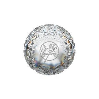 Waterford New York Yankees Crystal Baseball - Crystal Paper Weight - Waterford (Waterford-shops)