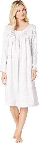 Carole Hochman Women's Brushed Back Satin Waltz Gown, Watercolor Floral, -