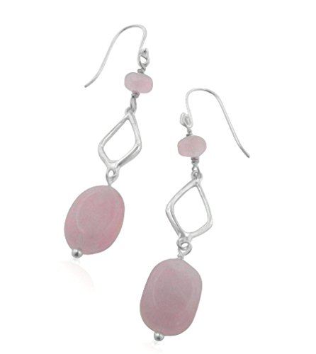 Quartz 925 Silver Hook Earrings - 7