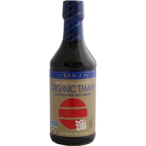 San J Organic Tamari, 20 Ounce - 6 per case.
