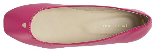 Scarpe Da Donna Ballerine Quadrate A Cuore Ritagliata Ballerine Rosa