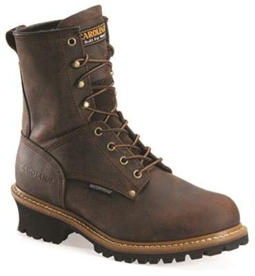 Carolina 8 Elm Waterproof Steel Toe Logger Boot Mens 4E9