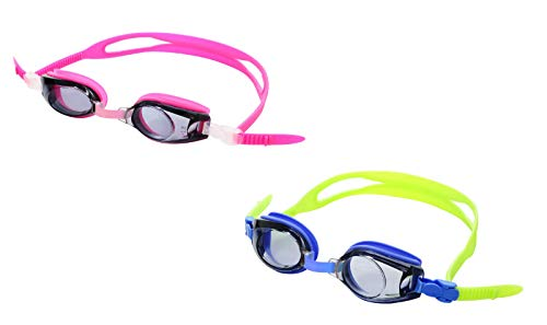 Sports Vision World Prescription Swimming Goggles Minus & Plus Powers for Children Kids Pink +3.00 (Swim Prescription Kids Goggles)