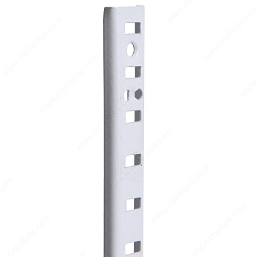 (5/8 U-Shaped Metal Pilaster, Length 84 in, Color/Finish White PRO-PACK 2)