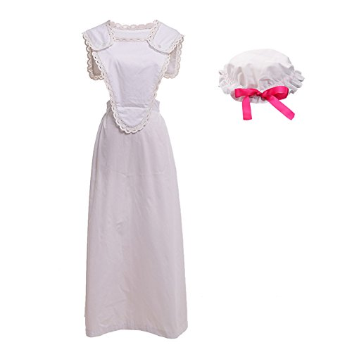 Edwardian Maids Costumes - GRACEART Victorian Pinafore Colonial Apron with
