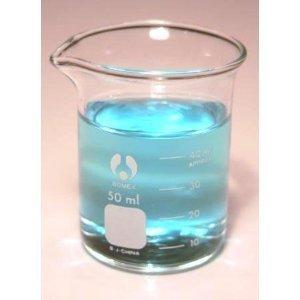 Beaker Low Form Glass Graduated 50ml Bomex Kimble Bomex