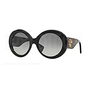 Versace Womens Sunglasses (VE4298) Black/Grey Acetate - Non-Polarized - 55mm
