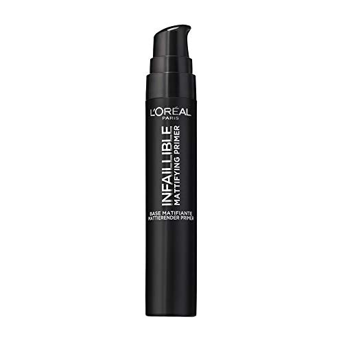L'Oréal Paris Infaillible Mattifying Primer, mattierende Make-up-Grundierung, mit Anti-Glanz-Effekt, bereitet die Haut optimal auf das Make-up vor