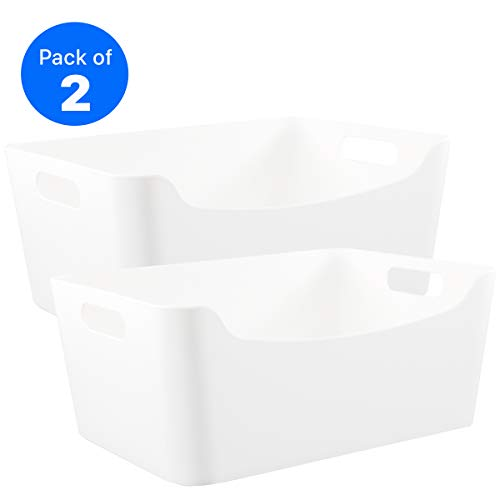 Storage Bins – Plastic Organizers and Storage, Versatile Kitchen Pantry Organization and Storage, Bathroom Organizer, Under Sink Organizer, Storage Cubes, Cube Organizer, Containers for Organizing