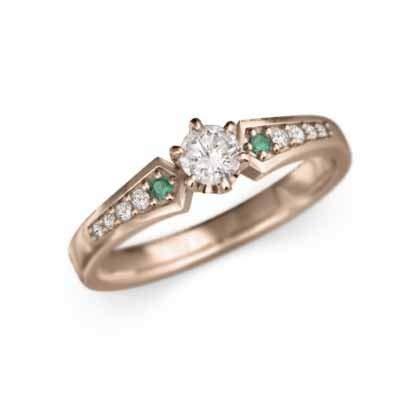 タンザナイト タンザナイト 18金ピンクゴールド エンゲージリング レディース 約0.22ct RingSize 16.5 B07QK7W32X 14.5|エメラルド/天然ダイヤモンド エメラルド/天然ダイヤモンド 14.5