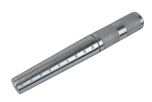 Large Steel Ring Mandrel w/ Sizes 16-24 Ring Sizing Hoop Earring Bezel Forming Jewelry Making Metal Forming Tool ()