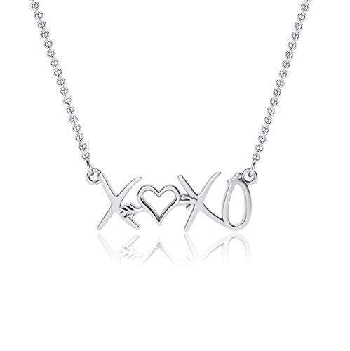 (XOXO Pendant Necklace - Sterling Silver Jewelry by Dayna Desigsn)
