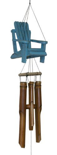 Cohasset Gifts | | | # 299 | Cohasset Beach Chair Bamboo Wind Chime |, Distressed Blue Finish |