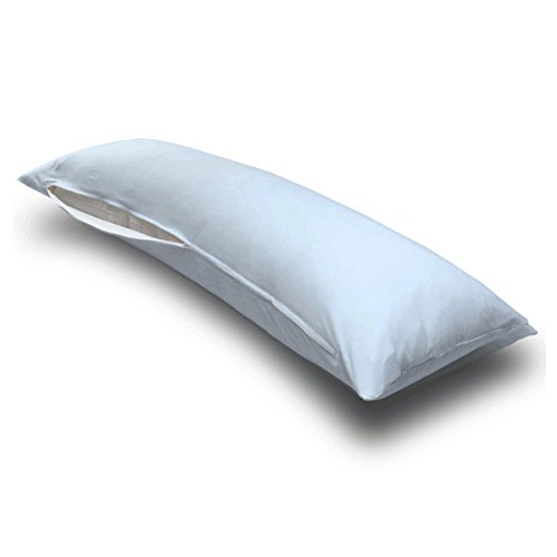 SheetWorld Butter Soft 100% Cotton Jersey Knit Body Pillow Case - Baby Blue - Made In USA