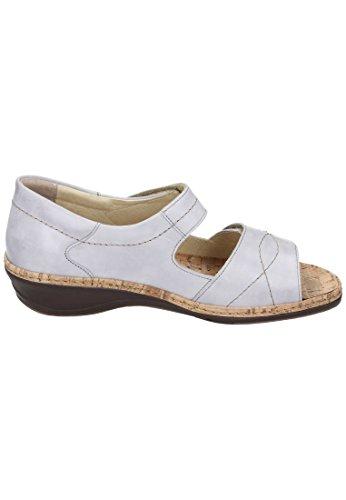 Comfortabel Damen Sandalette Grau
