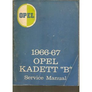 """1966-67 Opel Kadett """"B"""" Service Manual (1966-67 Opel for sale  Delivered anywhere in USA"""