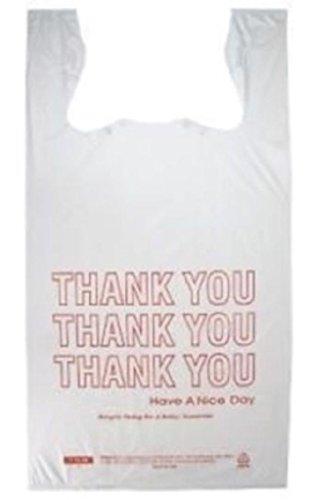 Jumbo T-Shirt Thank You Bags 18''x8''x28'' Heavy Duty 300s by Osislon Series
