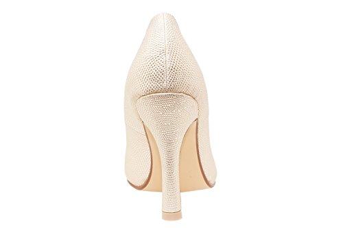 Andres Machado. AM591. Zapatos Salon en Soft y punta Fina. Mujer.Tallas Pequeñas de la 32 a la 35. Tallas Grandes de la 42 a la 45. GrabadoOro