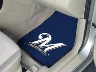 Fanmats Milwaukee Brewers Carpet Car Mats - Milwuakee Brewers One Size ()