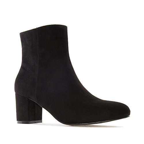 Andres Machado Am4089.ankle Boots In Suede.womens Petite & Large Szs: Us 2 To 5 -us 11.5 To 13 / Eu 32 To 35 -eu 43 To 45 Black Suede