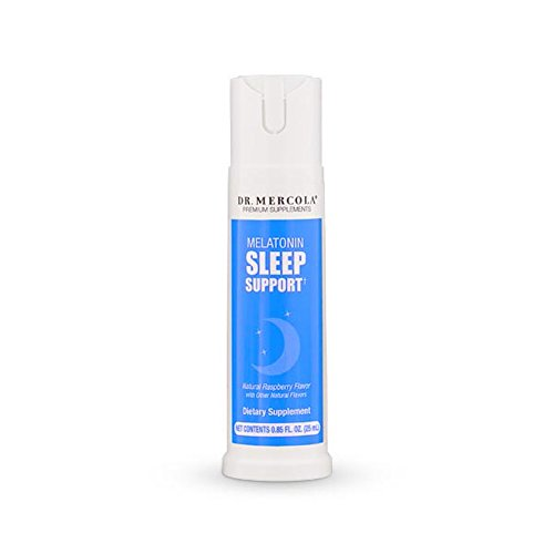Dr. Mercola, Melatonin Sleep Support Spray, 0.85 FL. oz (25 mL), (32 Servings), Supports Feelings of Sleepiness, Non GMO, Soy Free, Gluten Free
